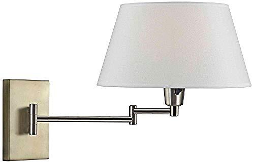 Einfachheit Wand Swing Arm Lampe 14 Zoll Höhe 15 5 Zoll Breite 25 Zoll Verlängerung Mattschwarz -