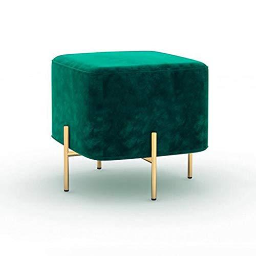 YCSD Hocker & Ottomans Metallbeine Schuh ändern Couchtisch Hocker Wohnzimmer Schlafzimmer (Color : A6) - Chrom-leder Sitzbank