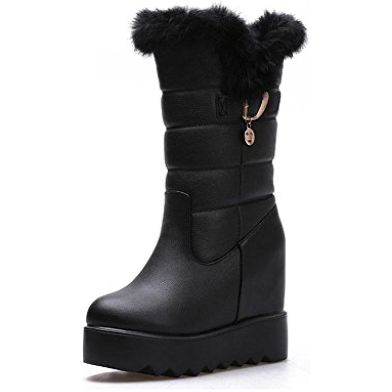 CHENGREN Bottes de de de Neige d'hiver Bottines épaisses en Microfibre Chaussures de Femme, 36 - B07K86QP16 - 61b42d