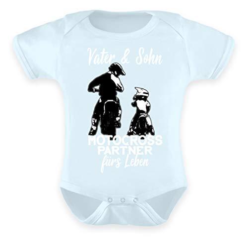 Hochwertiges Baby Body - Motocross Papa Shirt · Motorrad-Bekleidung · Geschenkidee für Endurosport Fans · Legende Motiv/Spruch