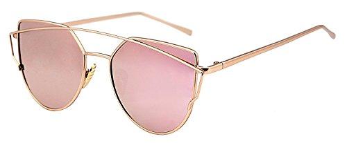 U.S. Crown Cateye Unisex Sunglasses(Us-Crown-Pink-Cateye|57|Pink)