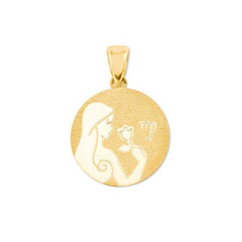 amor Sternzeichen Jungfrau Münzen-Anhänger Gold 375