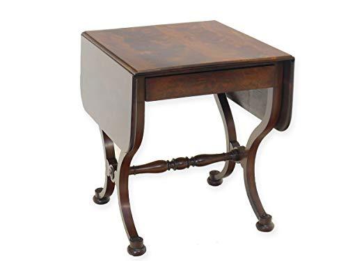 Antike Fundgrube Klapptisch Tisch Gateleg Biedermeier um 1860 aus Mahagoni mit Schublade (8369)