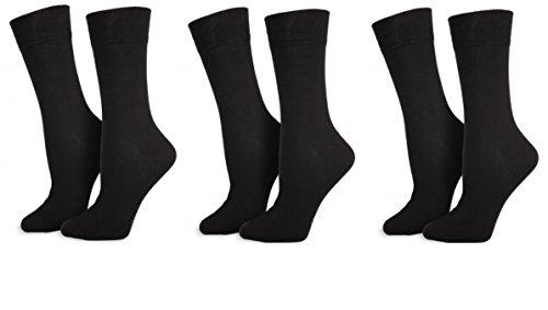 Ergee 12 Paar Herrensocken - Business Socken Marke schwarz - Größe 43-46