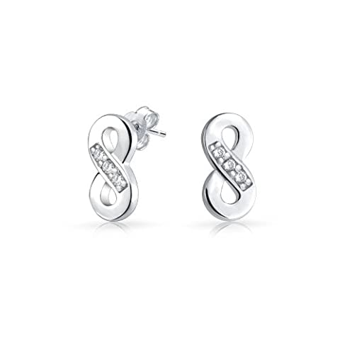 Argent 925 Bling Jewelry CZ Symbole de l'infini la Figure
