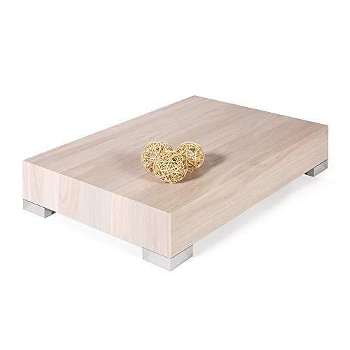 Mobili Fiver, iCube 90 Table de Salon Mélaminé, Orme, Perle, 90 x 60 x 18 cm
