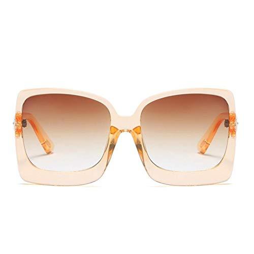 CCGKWW Markendesign Übergroße Sonnenbrille Lady Big Frame Schwarzes Quadrat Schattierungen Vintage Sonnenbrille Für Frauen Sommerbrille Uv400 Oculos