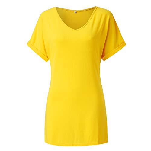 GOKOMO Damen T-Shirt Kurzarmshirt Basic Tops Ärmelloses Tee Allover-Sternen Druck Shirt Sommer Shirt (Piraten-trenchcoat Männer)