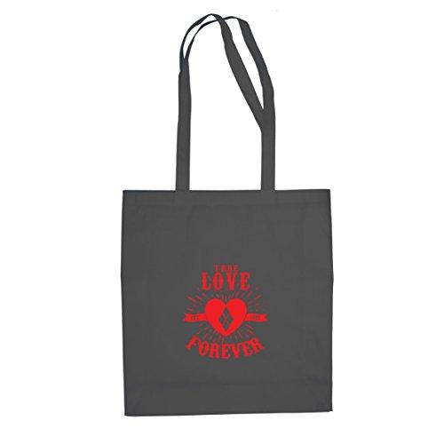 Harley Arkham Quinn Cosplay Knight Kostüm - Planet Nerd Quinn Love Forever - Stofftasche/Beutel, Farbe: grau