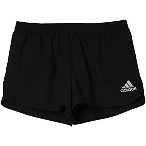 Adidas Run Split SHO M - Pantalón corto para hombre, color negro / blanco, talla XL