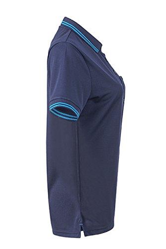 JAMES & NICHOLSON Femme Polo fonctionnel tres agréable a porter marine/aqua