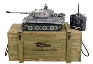 Tiger I. Profi Metallausführung IR Version TORRO Panzer mit Holzkiste