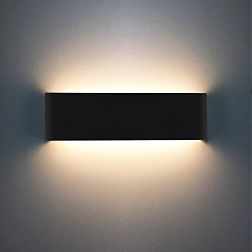 Oowolf Lámpara De Pared Interior, Iluminación Decorativa Luz De Pared Led Arriba Abajo, Efecto De...