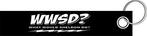 Shirtzshop WWSD What would Sheldon do bang theory Schlüsselanhänger Schlüsselband Keyholder Lanyard (Bang Golf)