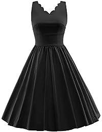 0b6b4bfa0 Kerlana Vestido de Fiesta de cóctel de Rockabilly con Cuello en V de los  años 60 Vestido de Fiesta Vestido de Fiesta de…