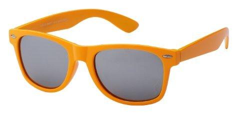 Sonnenbrille Nerdbrille retro Artikel 4026-22, orange / verspiegelt