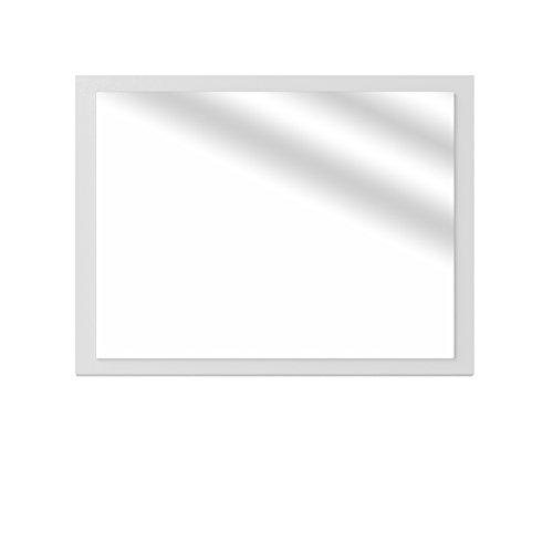 Oskar VICCO Badezimmerspiegel Badmöbel 45 x 60 cm - Spiegel Hängespiegel Badspiegel (Weiß Hochglanz)