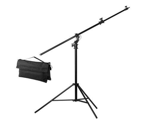 Jinbei M-1 Profi Galgenstativ Rotierbares Aluminium-Lampenstativ 132cm bis 395cm