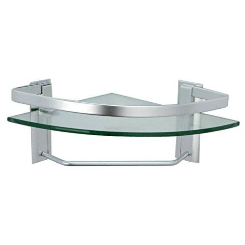 Une salle de bains pourvue d'articles de verre placé Plateau Triangle Rack simple couche (cm 35,6 X 30,4 X 6,8)