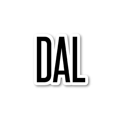 DAL Dallas Aufkleber Airport Codes - Laptop-Sticker - Vinyl-Aufkleber - Laptop, Handy, Tablet Vinyl-Aufkleber S12192