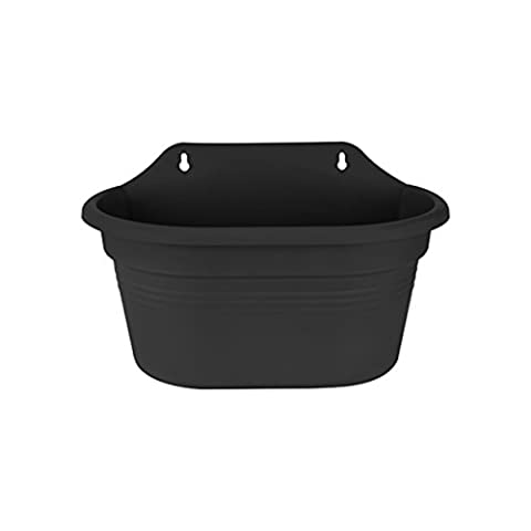 elho 6842203043300 29.5x15.9x17.2 cm Wall Basket - Living Black