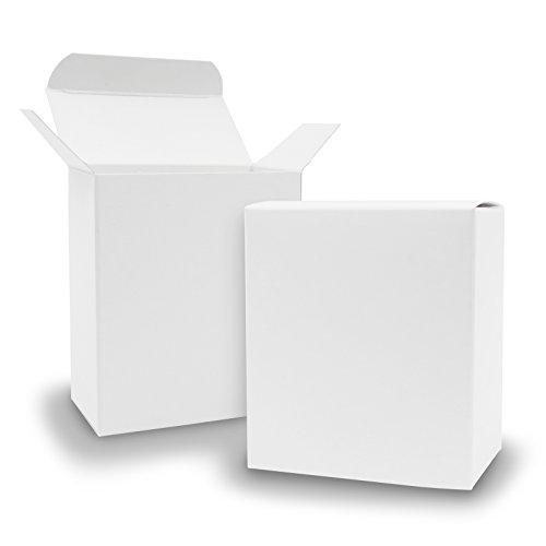 Itenga 50x scatole regalo in cartone da riempire (calendario dell'avvento, bomboniera per matrimonio, battesimo, nascita), bianco, quader 8x4x9cm