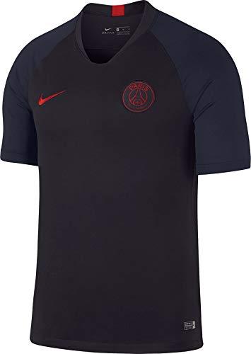 Nike psg m nk brt strk top ss, maglietta uomo, oil grey/university red, xl