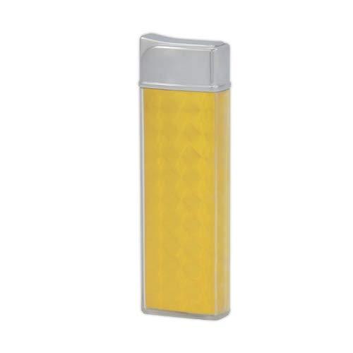 TESLA Lighter T12 | Lichtbogen Feuerzeug, Plasma Single-Arc, elektronisch wiederaufladbar, aufladbar mit Strom per USB, ohne Gas und Benzin, mit Ladekabel, Gelb