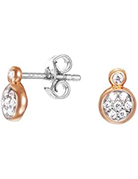 Esprit Charming Grace Ohrringe Silber vergoldet Roségold mit Zirkonia ESER92703A000