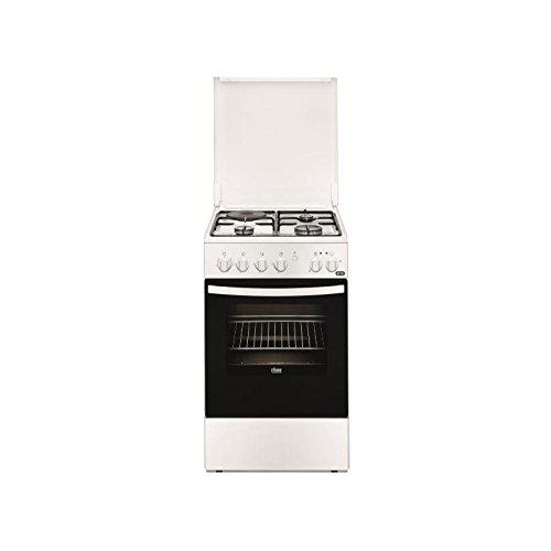 Faure FCM540GCWA four et cuisinière Noir, Blanc Combi A - Fours et cuisinières (Cuisinière, Noir, Blanc, Rotatif, Devant, émail, Bas)