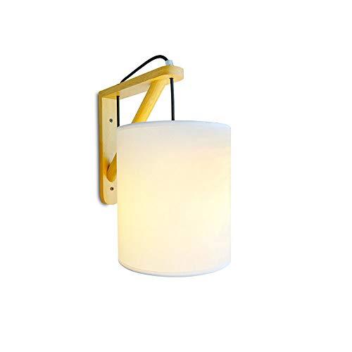 Plug-In-Wand Lampe Schlafzimmer Bett Seite Persönlichkeits Korridor Treppe Massivholz Kunst LED Energiespar Gurt Außen Stecker Wand Lampe