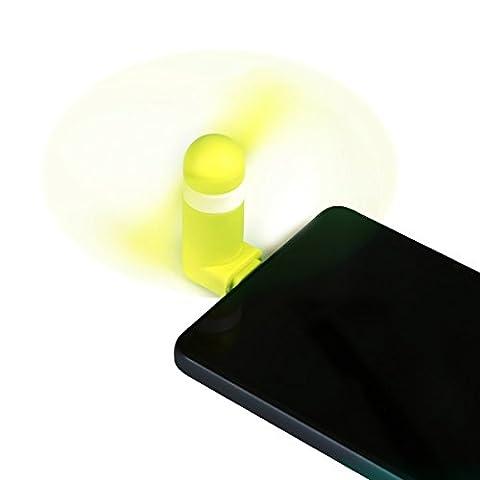 Ventilateur miniature de type C, Benks Ventilateur rotatif fonctionnel, refroidisseur Super Mute Cooling Mini ventilateur Connecteur pour Google Nexus 5X / 6P, Nokia N1, Samsung S8, S8 Plus Xiaomi Mi5 Meizu Pro5 HUAWEI P9 P10 et autres périphériques pris en charge de type C