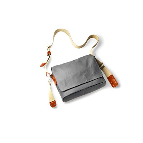Brooks Leder Schulter Umhänge Tasche Paddington Messenger Kurier Büro Fahrrad Modern Retro, BB034A072, Farbe orange Grey/Honey