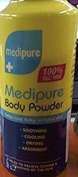Polvo corporal Medipure, sin talco, 200 g.