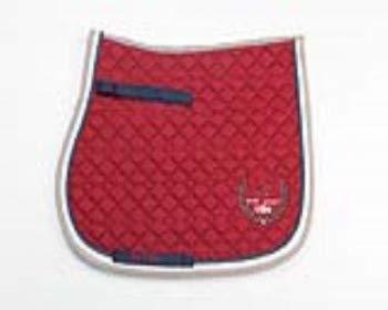 USG  Baumwollschabracke, rot/ marine/ beige/ schlamm, Dressur, Warmblut, 14450004-405-300-402