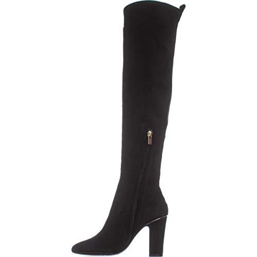 DKNY Frauen Sloane Pumps Rund Leder Fashion Stiefel Schwarz Groesse 7.5 US /38.5 EU