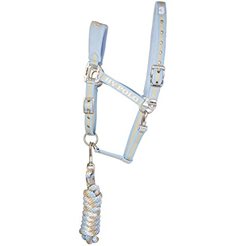 HV Polo - Headcollar and Rope Favouritas - Halfter und Strick - Soft Blau