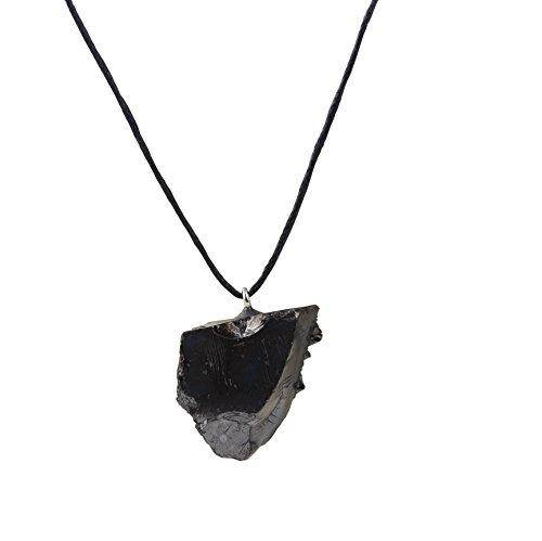 Heka Naturals Schungit Anhänger: Garantiert authentisch höchste Qualität Russische Naturheilung Stein aus Karelia (Elite Kristall)