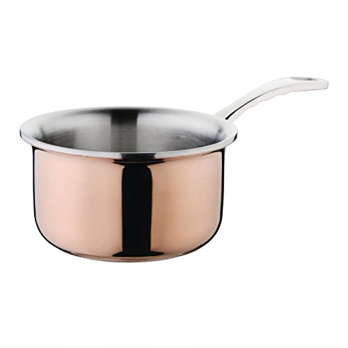 Vogue Copper Mini Saucepan 90X90X55mm Cookware Casserole Dishwasher Safe