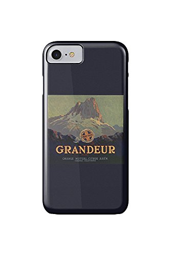 Grandeur Brand - Orange, California - Citrus Crate Label (iPhone 7 Cell Phone Case, Slim Barely There) -