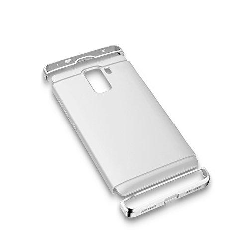 Custodia Huawei Honor 7, Bonice Huawei Honor 7 Cover,Staccabile Peso Leggero Hard Back Case lusso Metallo Ultra cornice Slim Light Matte Pratico Angolo protettivo Bumper Shock-Absorption Anti-Scratch- argento
