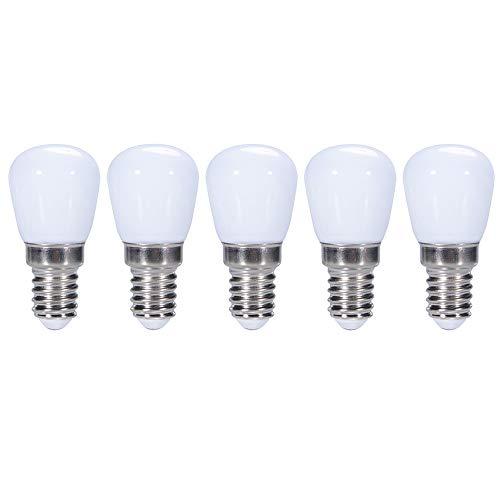 ZFQ Mini E14 LED Birne 3 Watt 300 Lumen 6000K Kaltweiß, Kühlschrank/Dunstabzugshaube/Nähmaschine Licht Ersatz, Kleine Nachtlicht für Schlafzimmer Veranda Salz Leuchtturm Lampe, Plastik, AC 220-240V