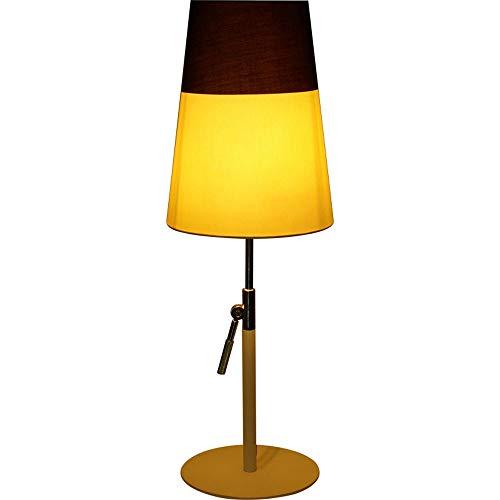 Einstellbare Post (Tuch Beleuchtung Nordic Einfache Tischlampe Aufzug E27 Schreibtisch Licht Einstellbare Post Moderne Wohnzimmer Schlafzimmer Home Bett Schreibtisch Lichter Kreative Mode Lampe Persönlichkeit Warm)