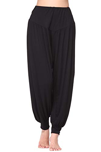 Wtiea Harem Style Yogahosen für Damen Weiche Odile Stoff Lange Hose Freizeit und Sport Geeignet (Relaxed Fit-yoga-hosen)