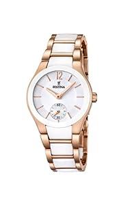 Reloj Festina F16589/1 de cuarzo para mujer con correa de acero inoxidable, color blanco de Festina