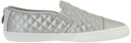 Geox D New Club C, Baskets mode femme Argent (White)