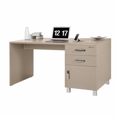 Miami 805702TP Schreibtisch mit 1 Schublade und 1 Tür, Holz, Taupe, 70 x 150 x 74 cm