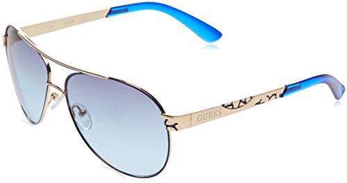 GUESS GF0282_32W, Gafas de Sol para Mujer, (Rosa/BLU), 61