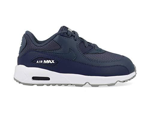 Nike Unisex Baby Air Max 90 Mesh (td) Niedrige Hausschuhe, Mehrfarbig Monsoon Blue/Midnight Navy 000, 17 EU (Air Blue Baby Max)