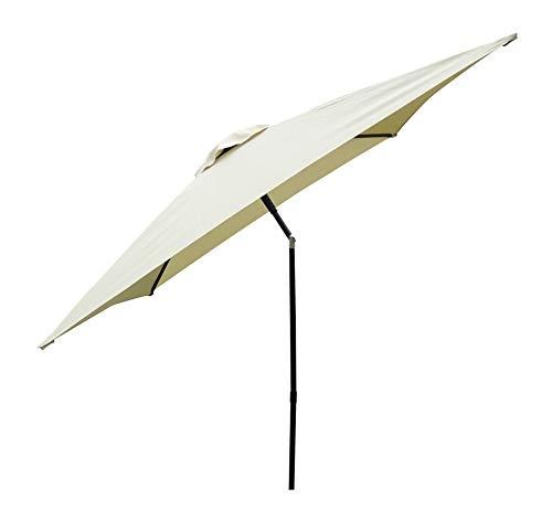 Madison Absolut wetterfester Gartenschirm Ibiza 200 x 200 Natur - Ecru, UV-Schutz 40 Plus und Knicker